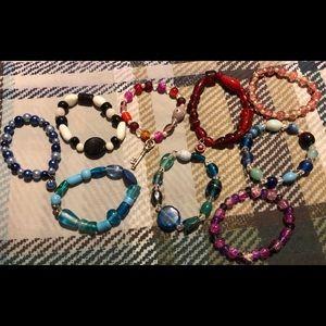Jewelry - Lot 8 ** 9 home made bracelets